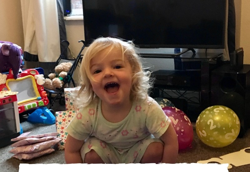 To my daughter on your 2nd birthday